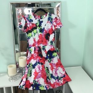 Milly Floral A-Line Dress